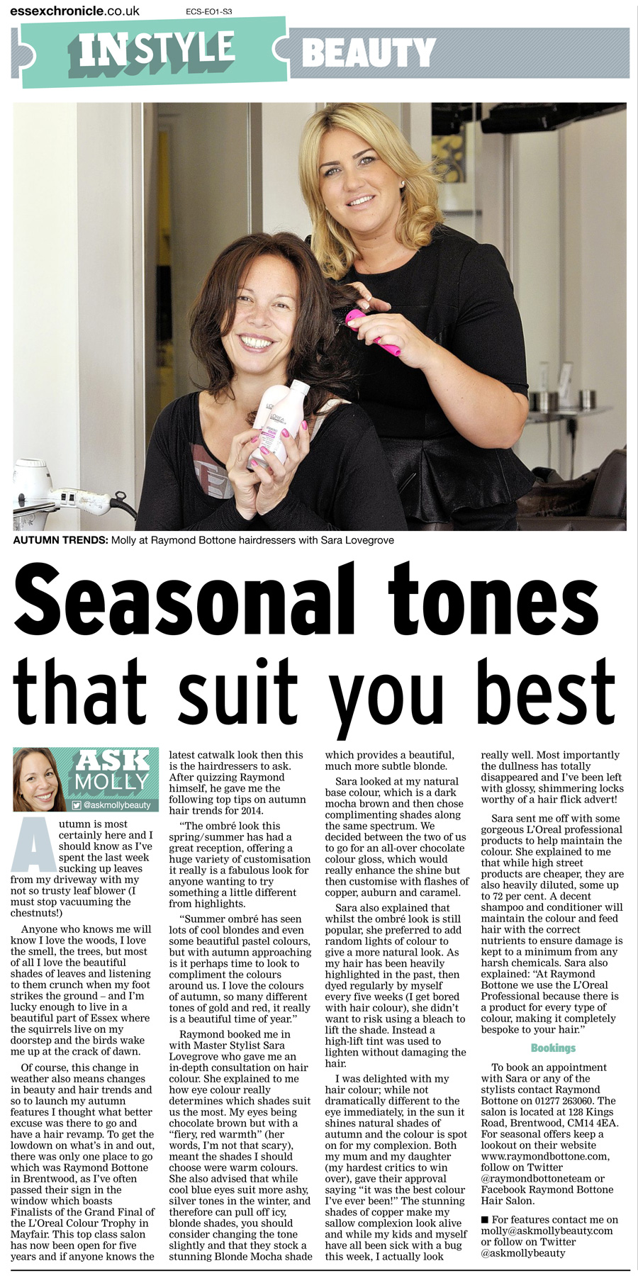 The Chronicle Loves Our Hair Salon