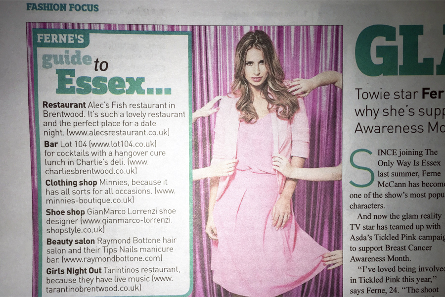 Ferne McCann Loves Raymond Bottone Hair Salon
